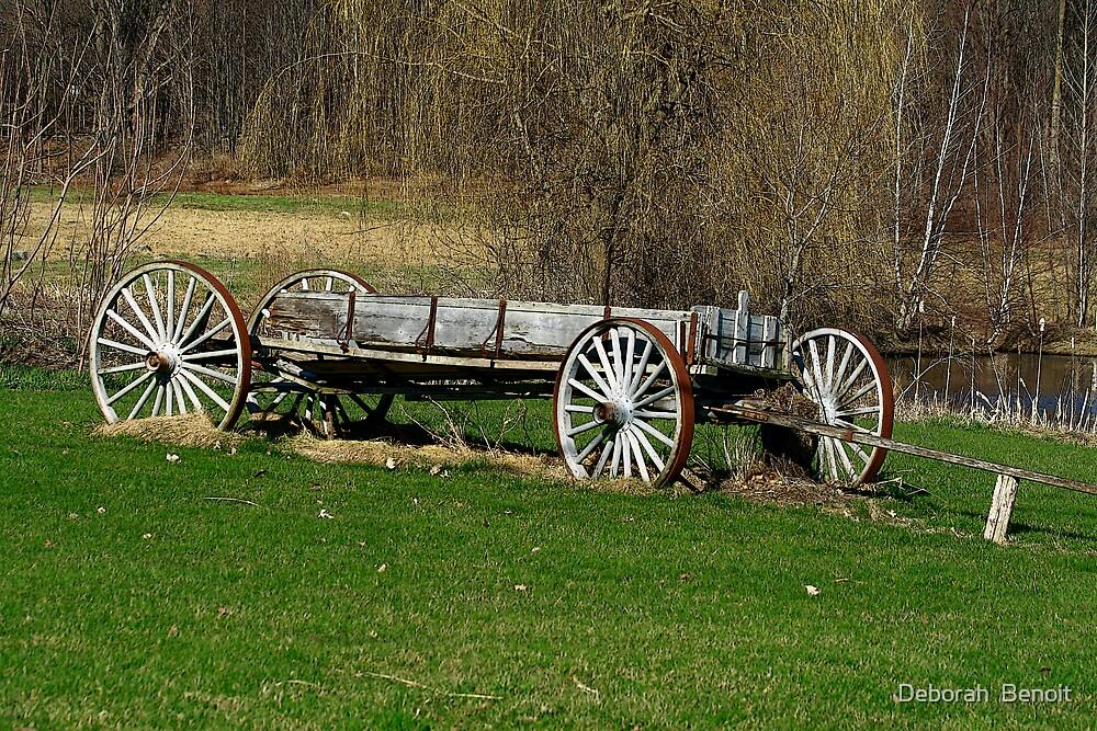The Olde Vermont Wagon by Deborah  Benoit