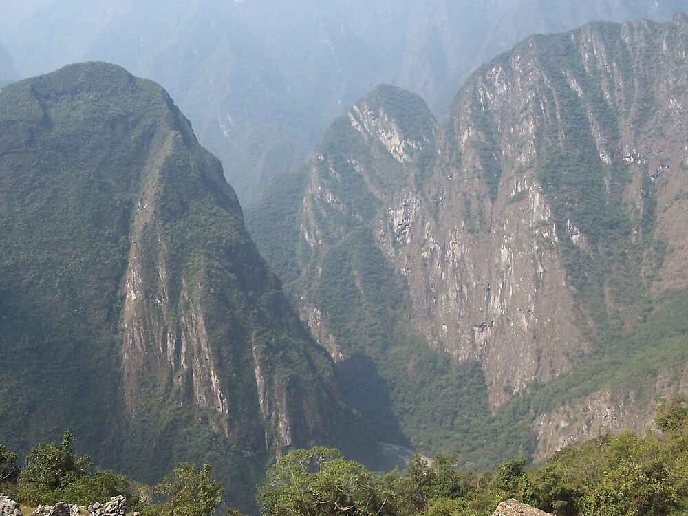 View  from Macchu Picchu, Peru by dtomw