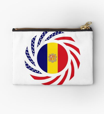 Andorran American Multinational Patriot Flag Series Zipper Pouch