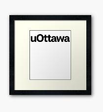 uOttawa & College Frat School Framed Print