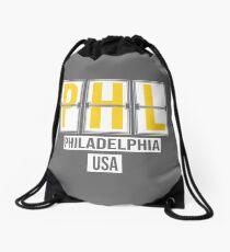PHL - Philadelphia Airport Code Souvenir or Gift Shirt Drawstring Bag