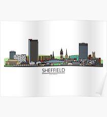 Sheffield Icons - Skyline Poster
