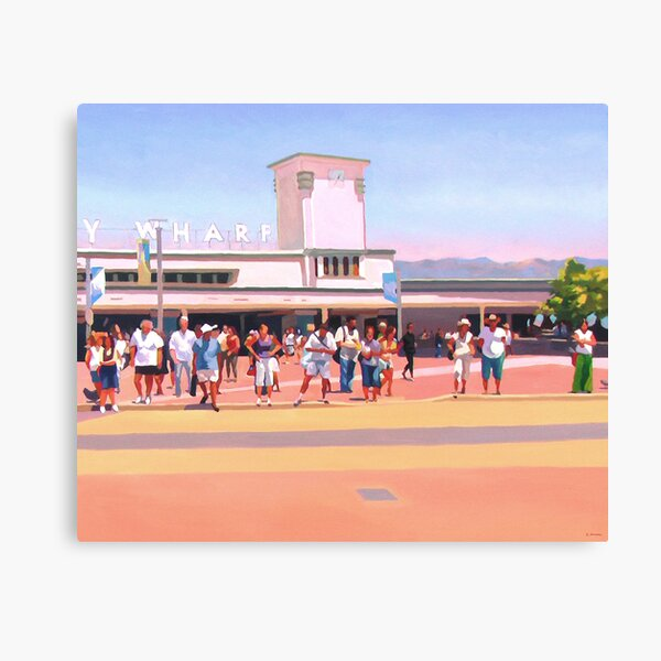 Manly Wharf Crossing Canvas Print