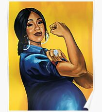 Cardi B! Moneybags and Motherhood Poster