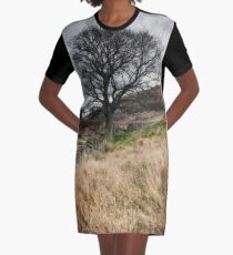 Moody scenery in Central Scotland Graphic T-Shirt Dress