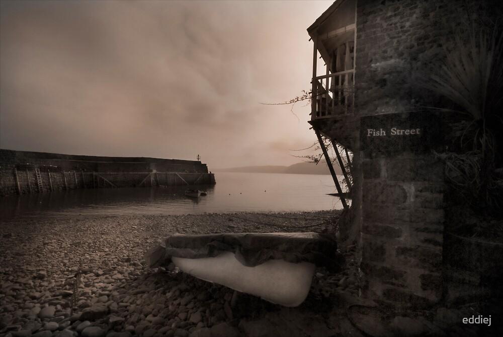 Clovelly harbour north Devon  by eddiej
