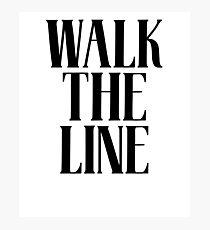 Walk The Line & Country Music Lyrics Photographic Print