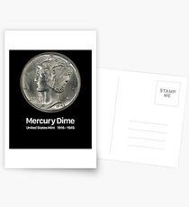 Mercury Dime - Coin Collector Collecting Postcards