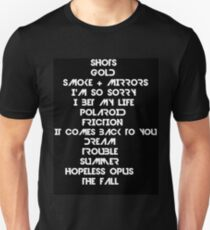 Smoke and Mirrors tracks Unisex T-Shirt