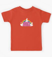 HEAVY METAL! (Funny Unicorn / Rainbow Mosh Parody Design) Kids Clothes