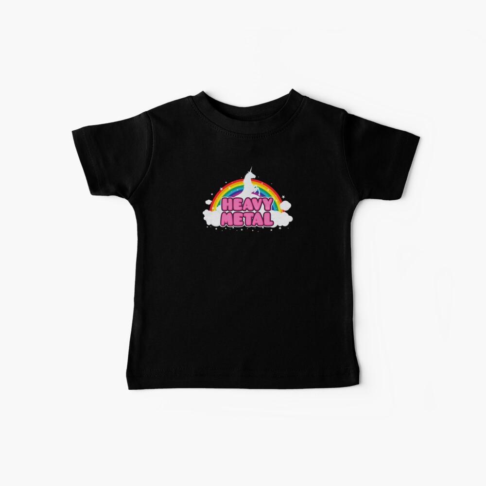 HEAVY METAL! (Funny Unicorn / Rainbow Mosh Parody Design) Baby T-Shirt