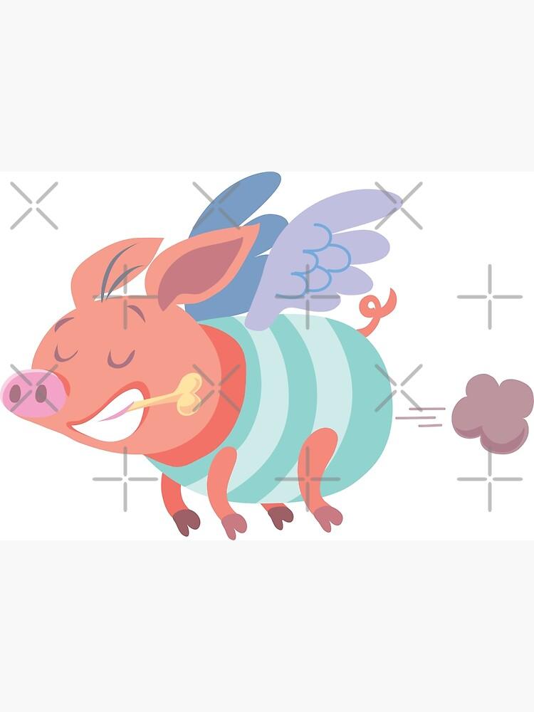 flying pig farts by duxpavlic