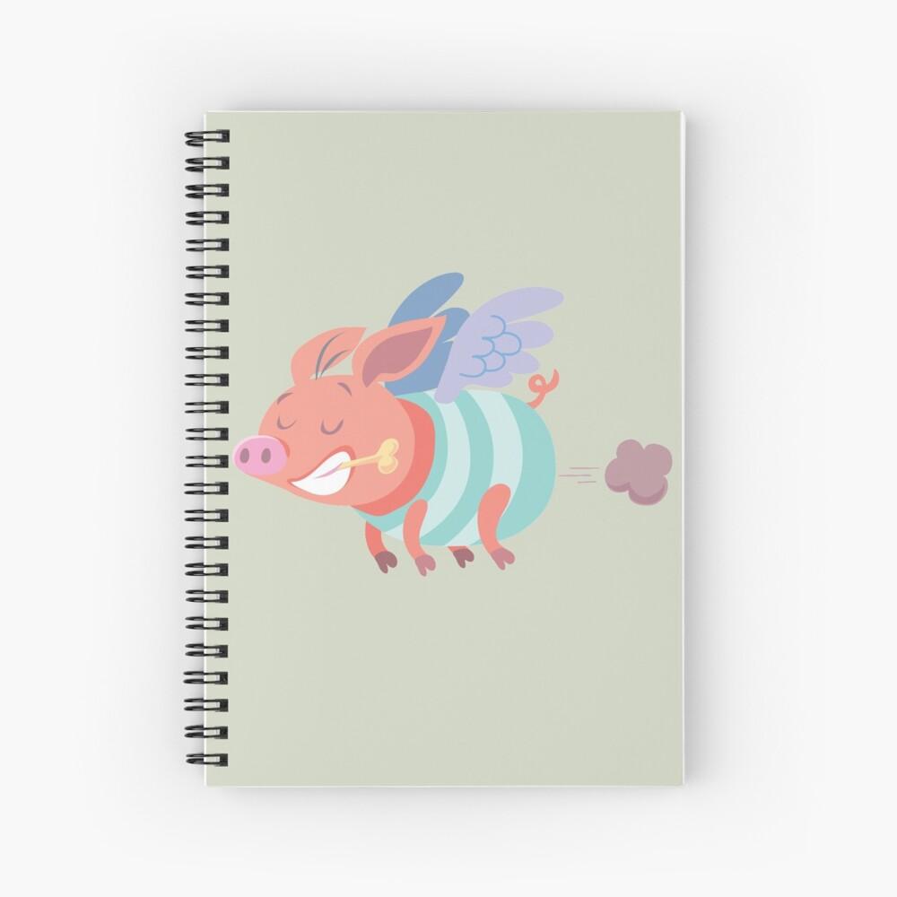 flying pig farts Spiral Notebook