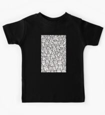 Cat Party (White) Kids Tee
