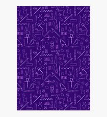 Purple Hieroglyphs Photographic Print