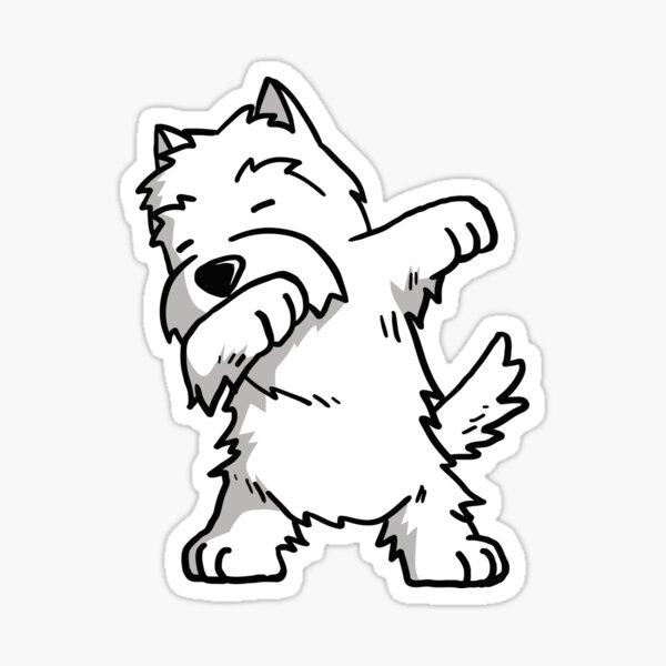 Dabbing Westie Sticker