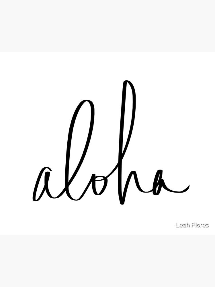 Aloha Hawaii Typography by adventurlings