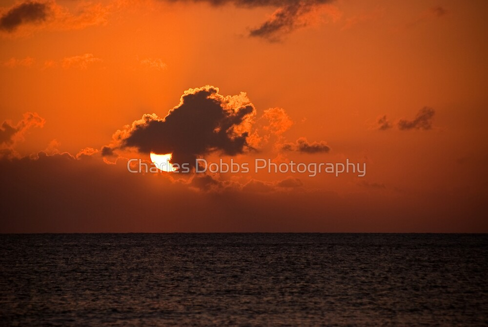 Caribbean Sunset by Charles Dobbs Photography