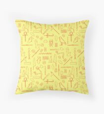 Egyptian Hieroglyphs Throw Pillow