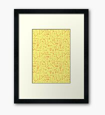Egyptian Hieroglyphs Framed Print