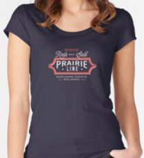 Ride the Prairie Line Fitted Scoop T-Shirt