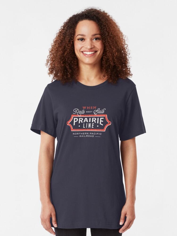 Alternate view of Ride the Prairie Line Slim Fit T-Shirt