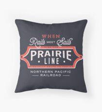 Ride the Prairie Line Throw Pillow