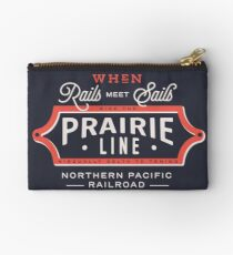 Ride the Prairie Line Zipper Pouch