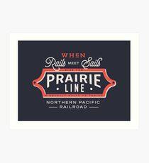 Ride the Prairie Line Art Print