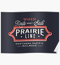 Ride the Prairie Line Poster
