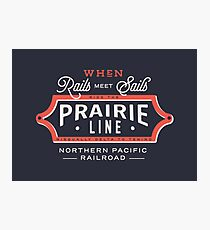 Ride the Prairie Line Photographic Print