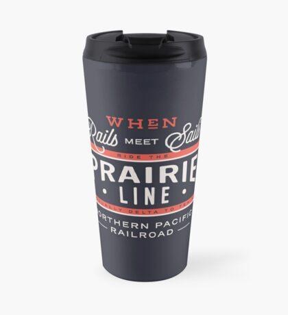 Ride the Prairie Line Travel Mug
