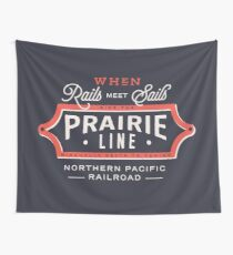 Ride the Prairie Line Wall Tapestry