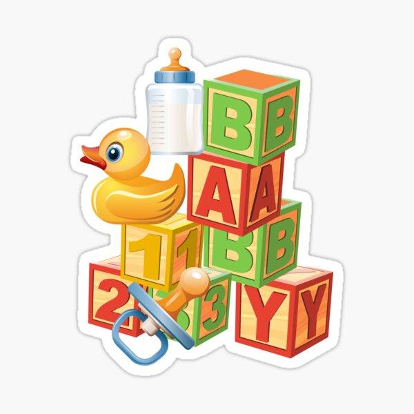Blocs, Ducks Baby Abdl Couches Adulte Sticker