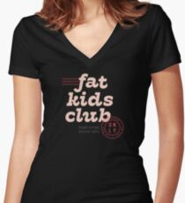 Fat Kids Club Fitted V-Neck T-Shirt