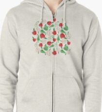 Fruity Apples and Pears Zipped Hoodie
