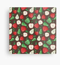 Fruity Apples and Pears Metal Print