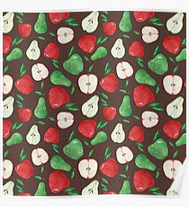 Fruity Apples and Pears Poster