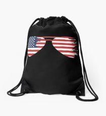American Flag Sunglasses Drawstring Bag