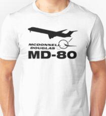 McDonnell Douglas MD-80 - Silhouette (Black) Unisex T-Shirt