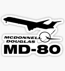 McDonnell Douglas MD-80 - Silhouette (Black) Sticker