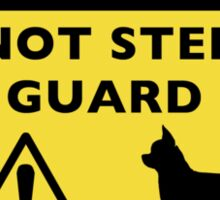 Humorous Chihuahua Guard Dog Warning Sticker