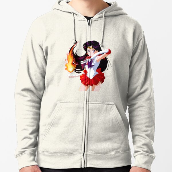 Sailor Mars (crystal BR Cover) Zipped Hoodie