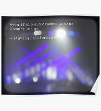 MAROON MUSIC - Leaving California Poster