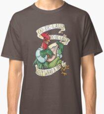 Camiseta clásica Alan-A-Dale Gallo: OO-De-Lally Golly Qué día tatuaje Acuarela Robin Hood
