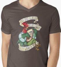 Alan-A-Dale Rooster : OO-De-Lally Golly What A Day Tattoo Watercolor Painting Robin Hood Men's V-Neck T-Shirt
