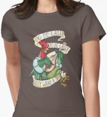 Alan-A-Dale Rooster : OO-De-Lally Golly What A Day Tattoo Watercolor Painting Robin Hood Women's Fitted T-Shirt