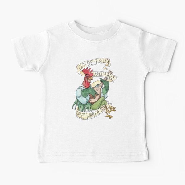 Alan-A-Dale Rooster : OO-De-Lally Golly What A Day Tattoo Watercolor Painting Robin Hood Baby T-Shirt