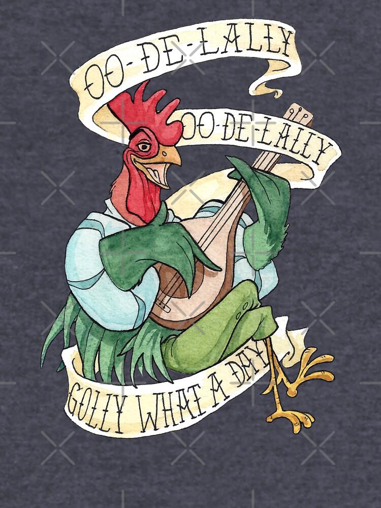 Alan-A-Dale Gallo: OO-De-Lally Golly Qué día tatuaje Acuarela Robin Hood de Rvaya