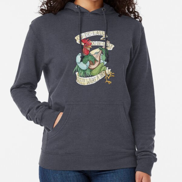 Alan-A-Dale Rooster : OO-De-Lally Golly What A Day Tattoo Watercolor Painting Robin Hood Lightweight Hoodie